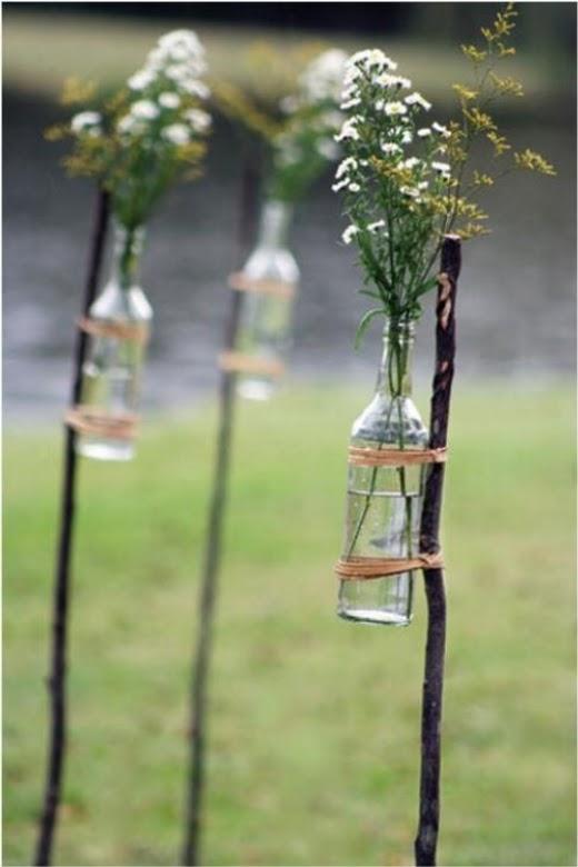 Vaso - Se for receber os amigos ao ar livre, essa é uma boa ideia para dar mais graça ao quintal