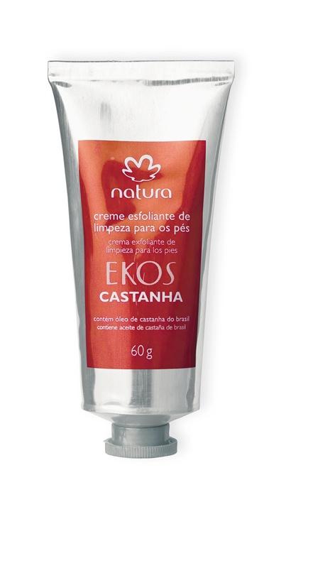 Natura Ekos Castanha Creme Esfoliante de limpeza para os pés, R$19,80 - Natura 0800-115566