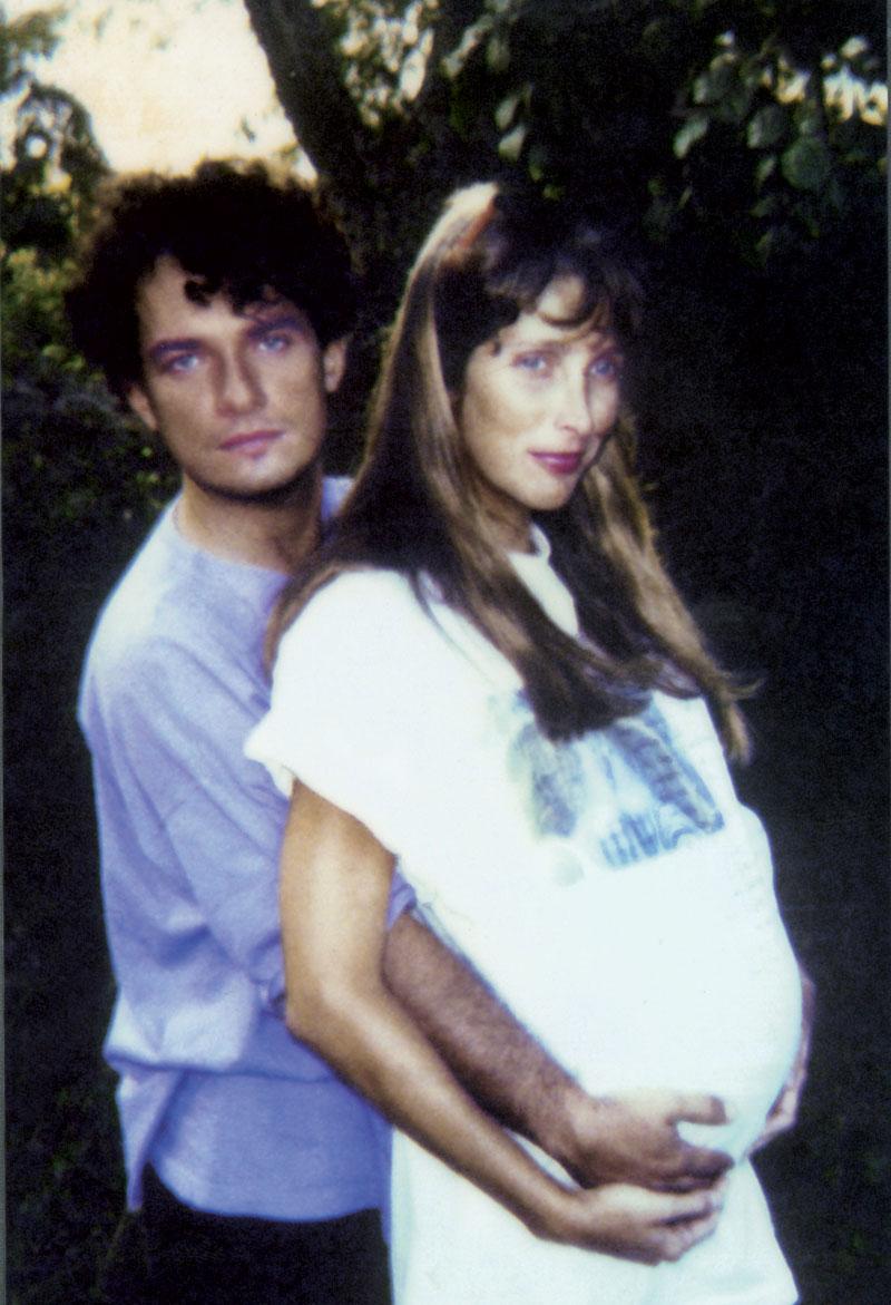 Em 1989, grávida de Clarice, filha de João