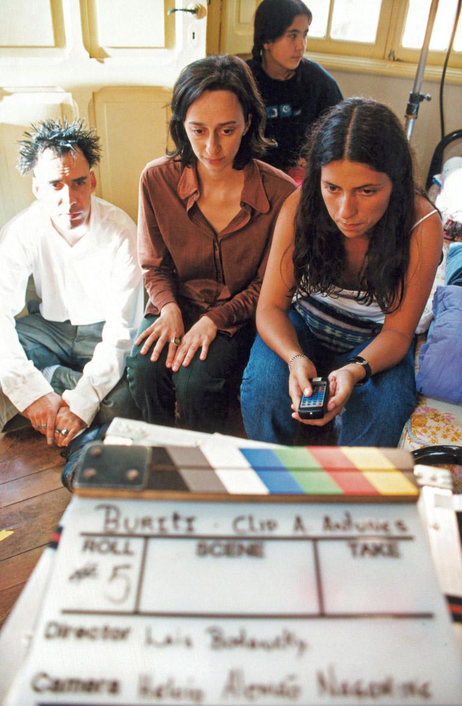 Com Arnaldo Antunes no clipe de