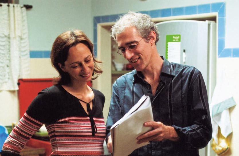 Com Luiz, vendo o roteiro de As Melhores Coisas do Mundo
