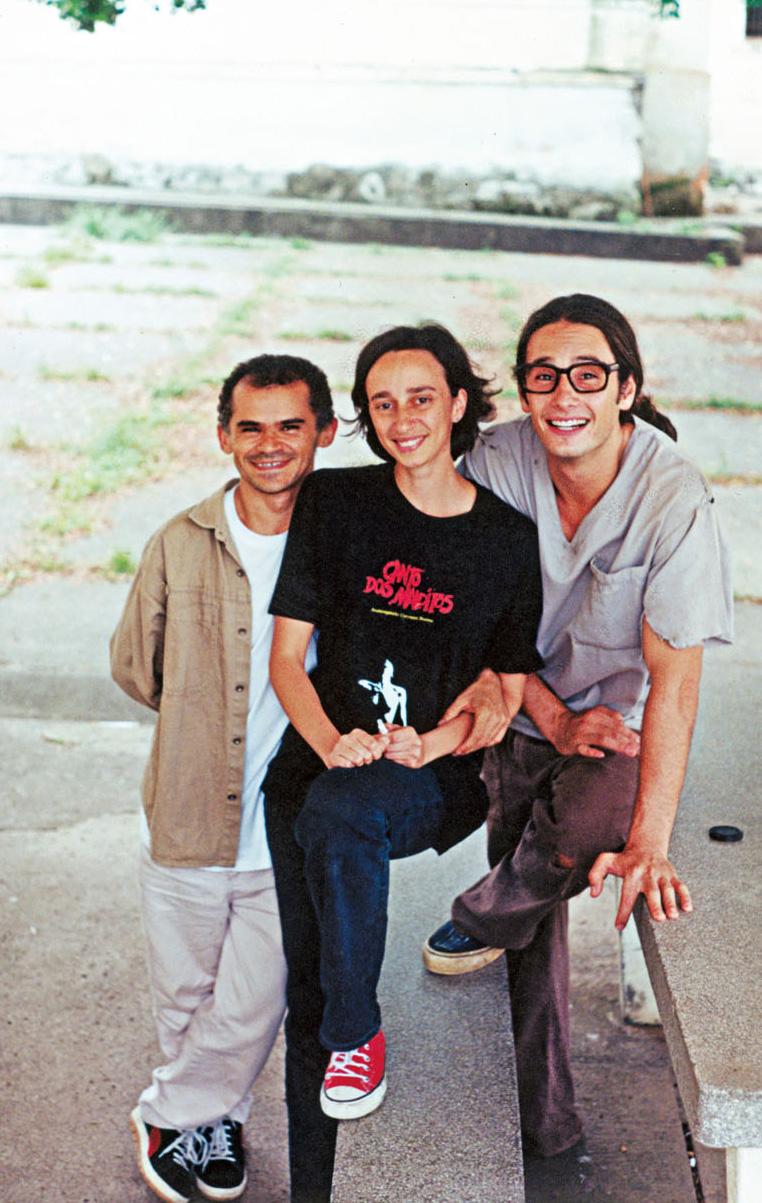 Com Rodrio Santoro e Gero Camilo