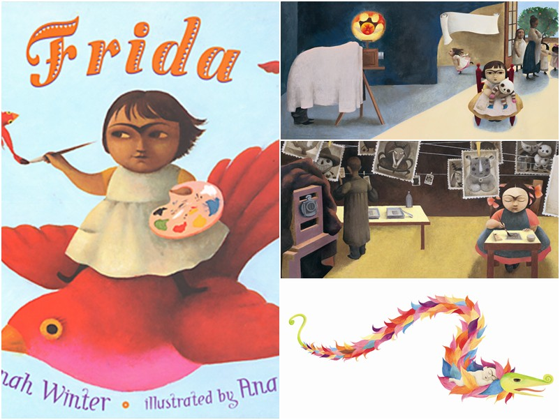 Livro infantil Frida - Ilustrado por Ana Juan e escrito por Jonah Winter - na Cosac Naify R$37