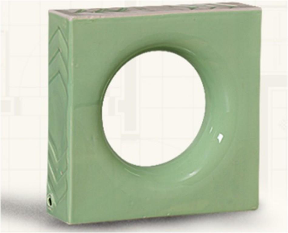 Louça verde claro modelo lua (Cerâmica Martins - www.ceramicamartins.com.br)