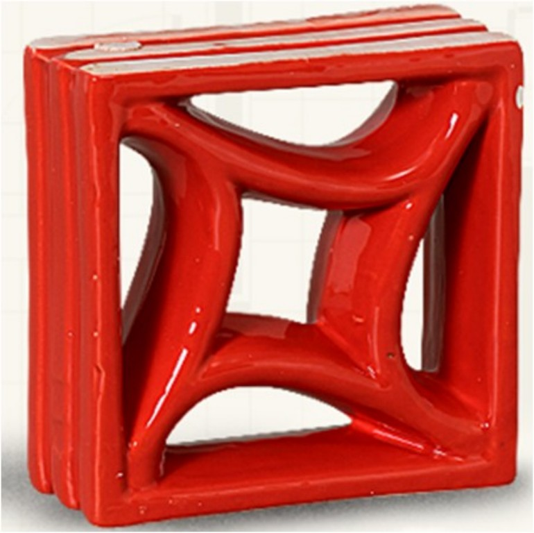 Louça vermelho modelo estrela do mar (Cerâmica Martins - www.ceramicamartins.com.br)