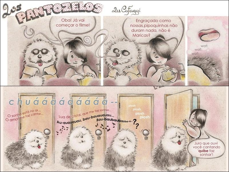 """Lu Cafaggi - Começou a desenhar observando o irmão, que também é desenhista. Hoje, junto com ele, produziu a elogiada """"Laços"""", versão graphic novel da Turma da Mônica. Já lançou a série de minigibis Mix Tape e as tirinhas no blog Los Pantozelos"""