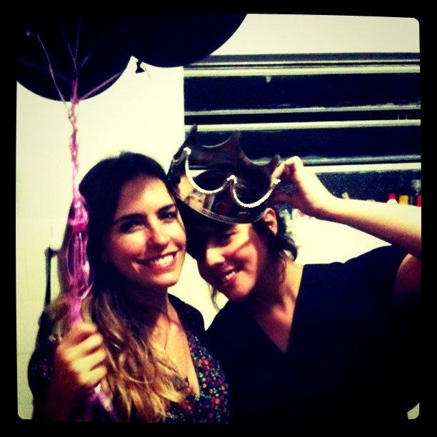 Luiza e Dani em foto para o Instamission