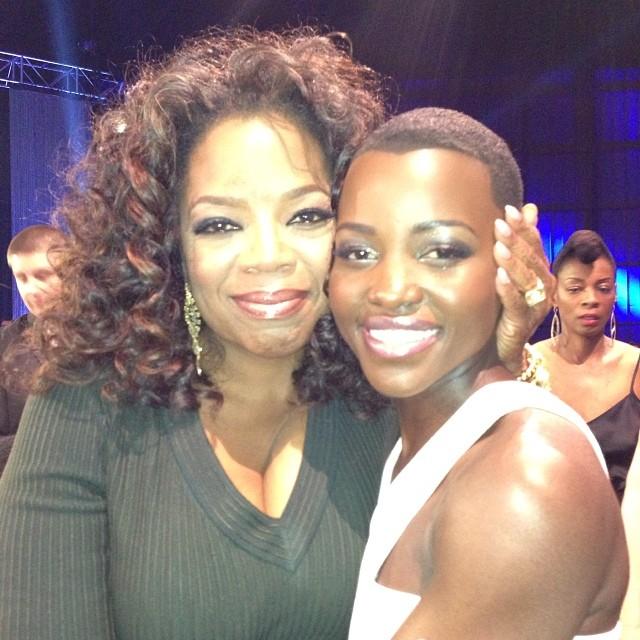 Oprah declarou amor a Lupita em seu próprio Instagram, @oprah