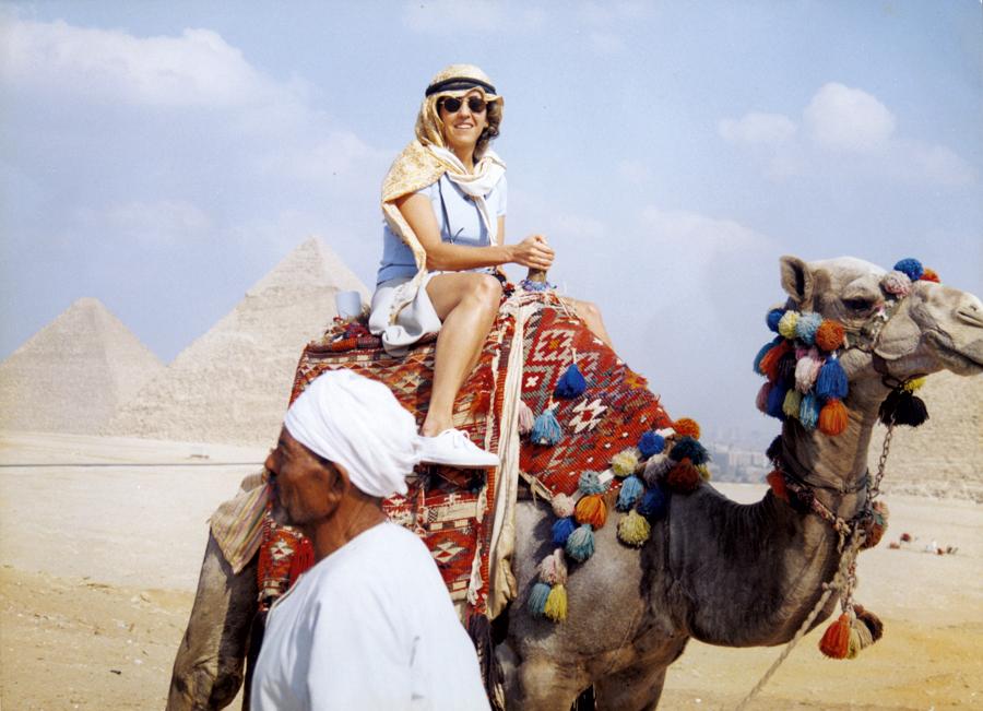 De férias no Egito, em 1997
