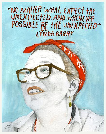 Lynda Barry. Escritora e cartunista estadunidense