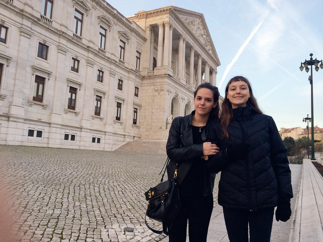 E com a irmã, AnaMaria, em dezembro de 2013