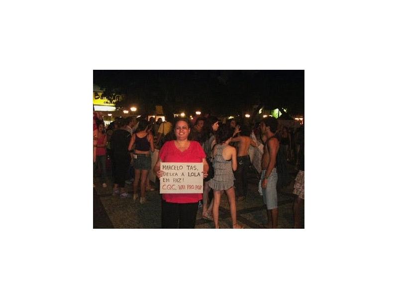 Na concentração da Marcha das Vadias em Fortaleza