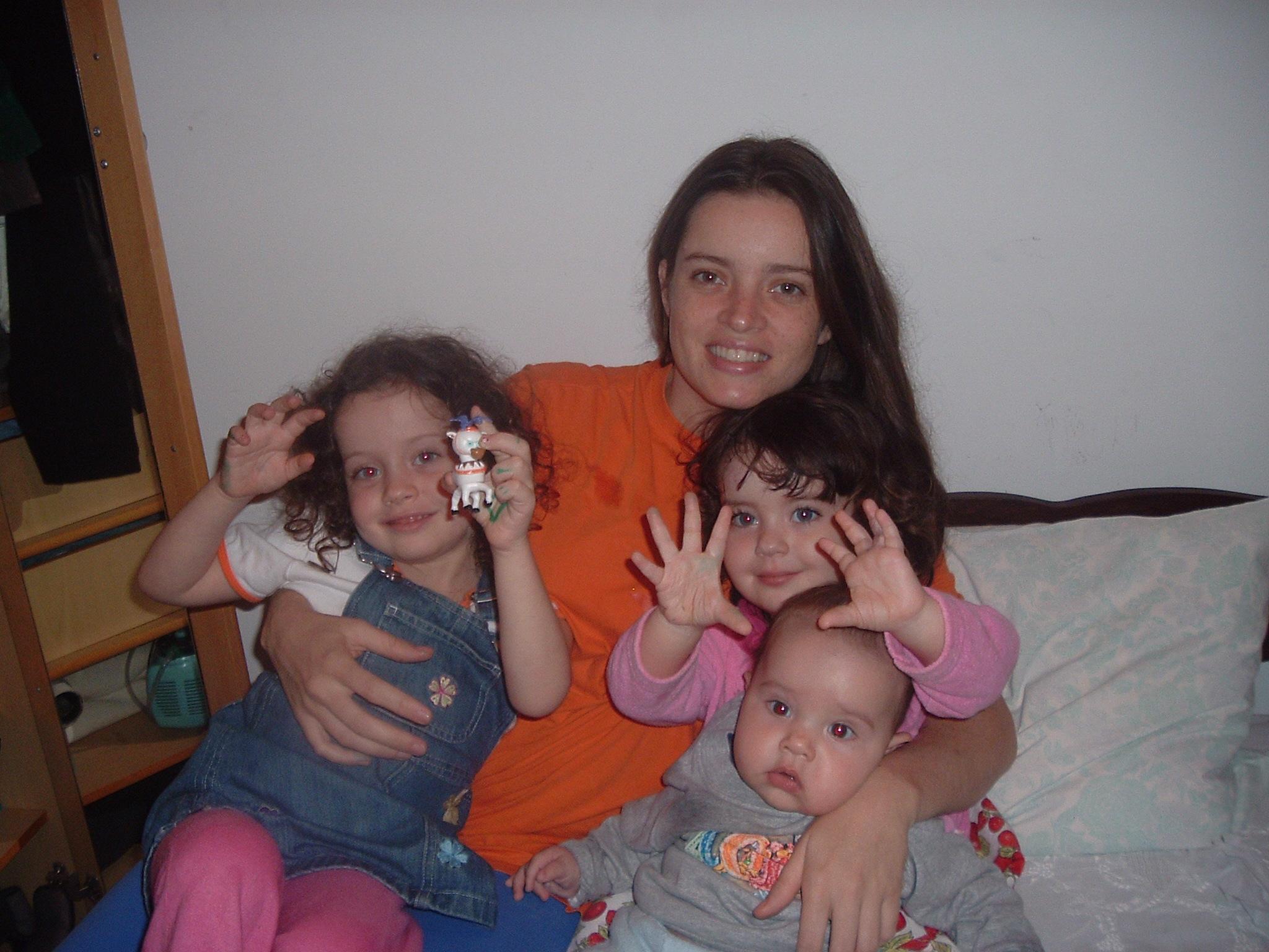 Com Clara, Laura e o pequeno Gabriel - o reizinho da família