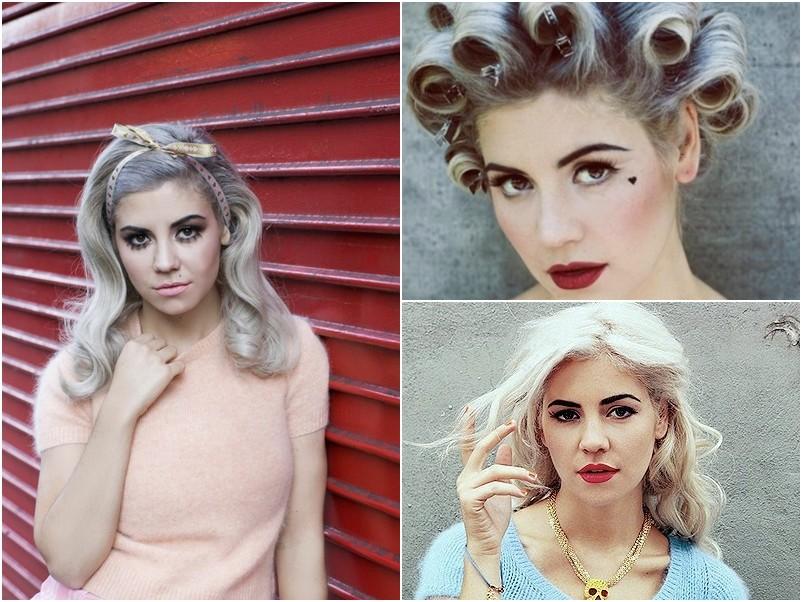 Marina and the Diamonds, cantora galesa, refrência de moda e também adepta dos fios brancos