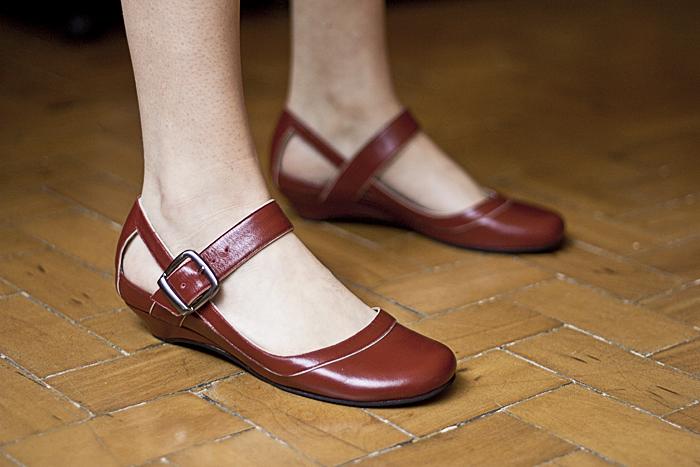 Sábado: Detalhe da sapatilha super confortável do dia