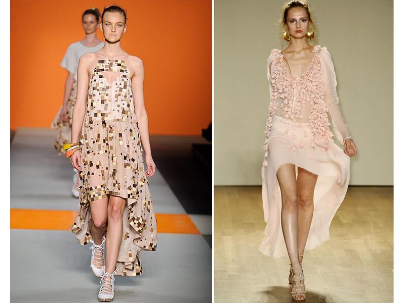 """Mullet dress (Como? Os anos 80 voltaram?) - """"A peça apareceu nas semanas de moda de NY, Londres, Milão e Paris. Todas as marcas desfilaram. Muita gente ainda torce o nariz, mas até o meio do ano estaremos todas pensando somente em caudas pra uma festa..."""""""