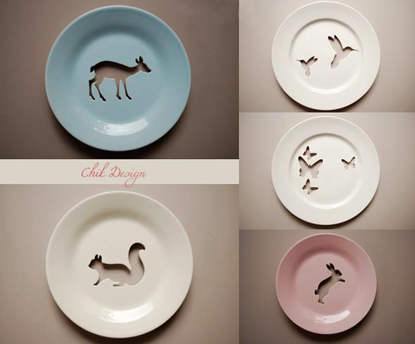 Pratos decorativos - $ 79.95 cada - Na Chik Design