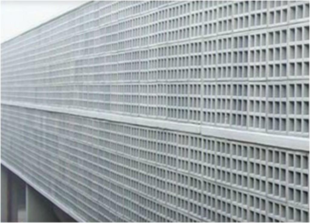 Painel em elemento vazado quadrado de concreto (Facital - www.facital.com.br)