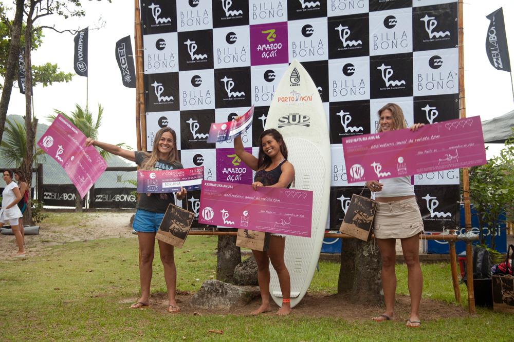 As vencedoras da fun race no pódio