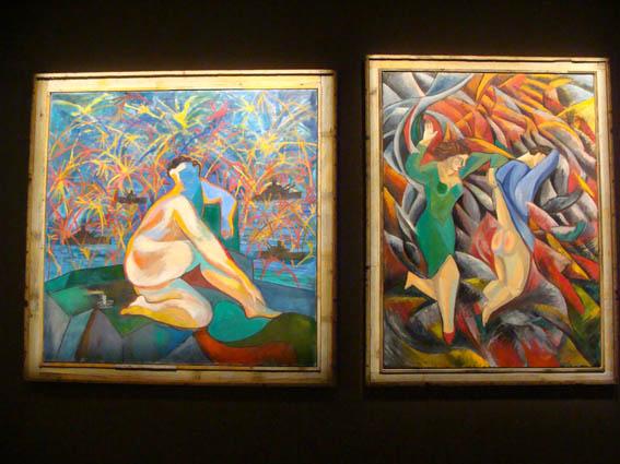pinturas de Sandro Chia, no pavilh?da It?a