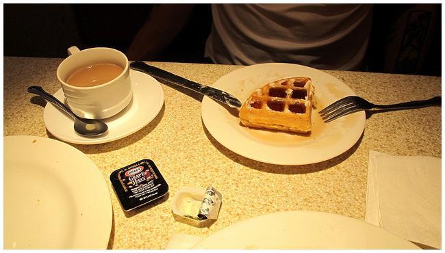 A cantora ama waffles