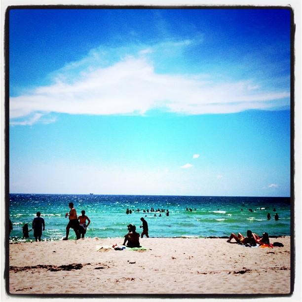 Em Miami Beach, pela lentes do seu iPhone