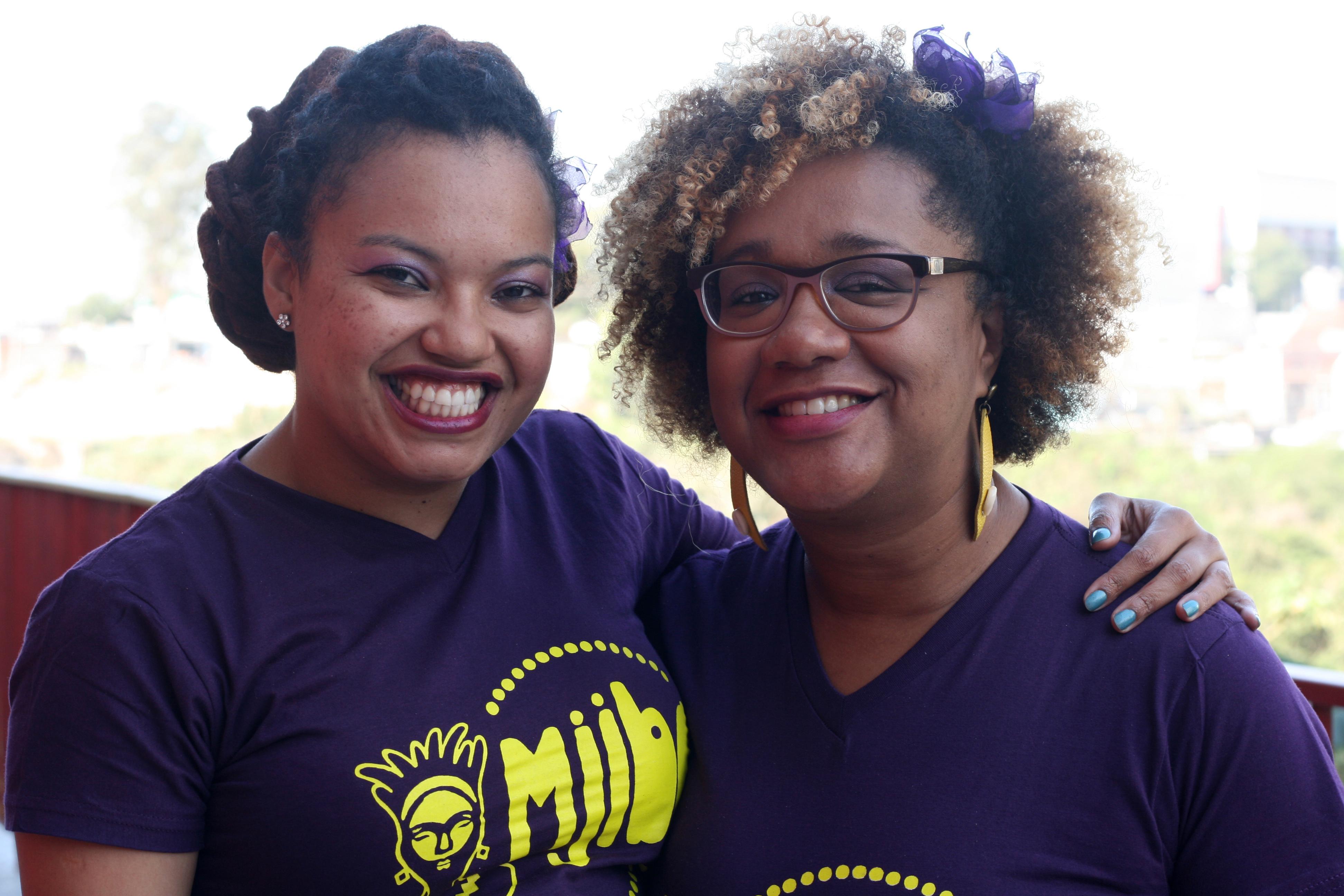 Elizandra Souza e Carmen Faustino, organizadoras da antologia