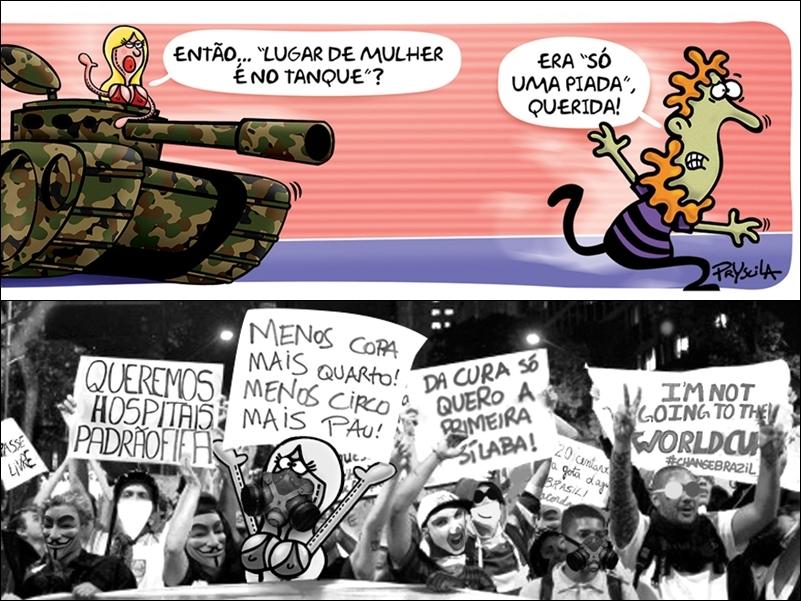 Pryscila Vieira - A cartunista é curitibana e criadora da boneca inflável Amely, que tem um senso de humor ácido e aborda sempre assuntos feministas