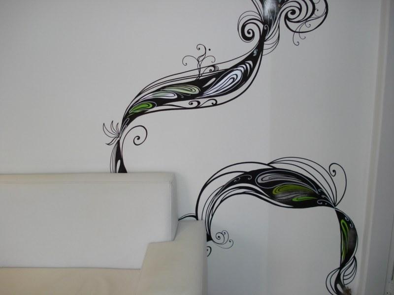 Desenho sob parede - Obra Ronaldo Inc. www.ronaldoinc.art.br