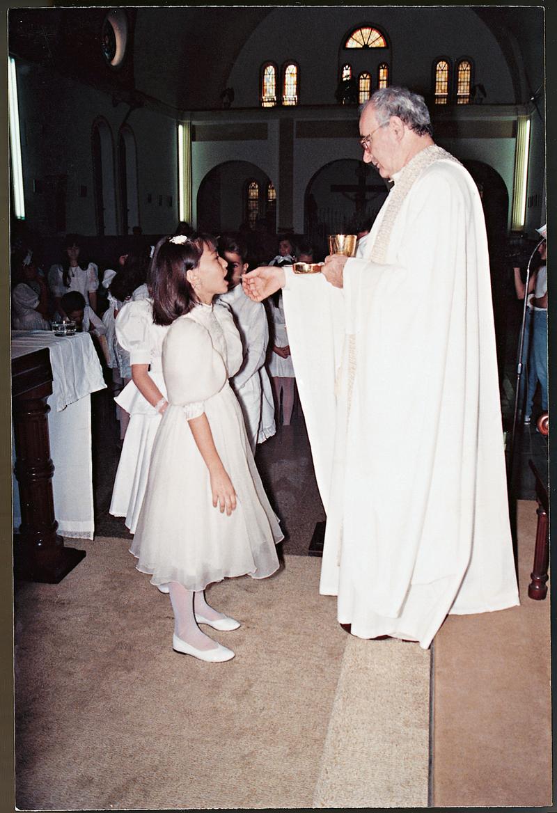 Na primeira comunhão, em Penápolis