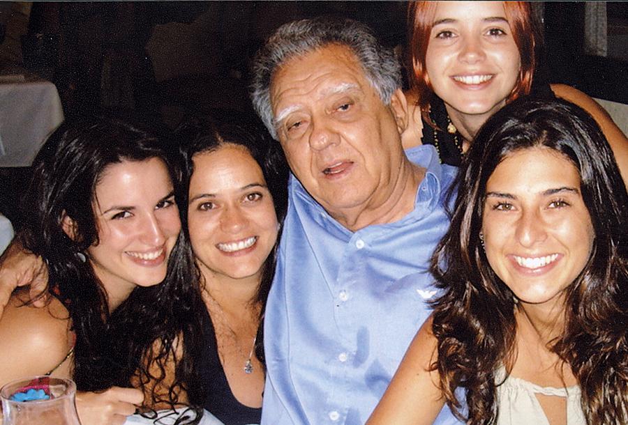 Nos bastidores de O homem que desafiou o diabo, com Luiz Carlos Barreto, produtor do filme, em 2007