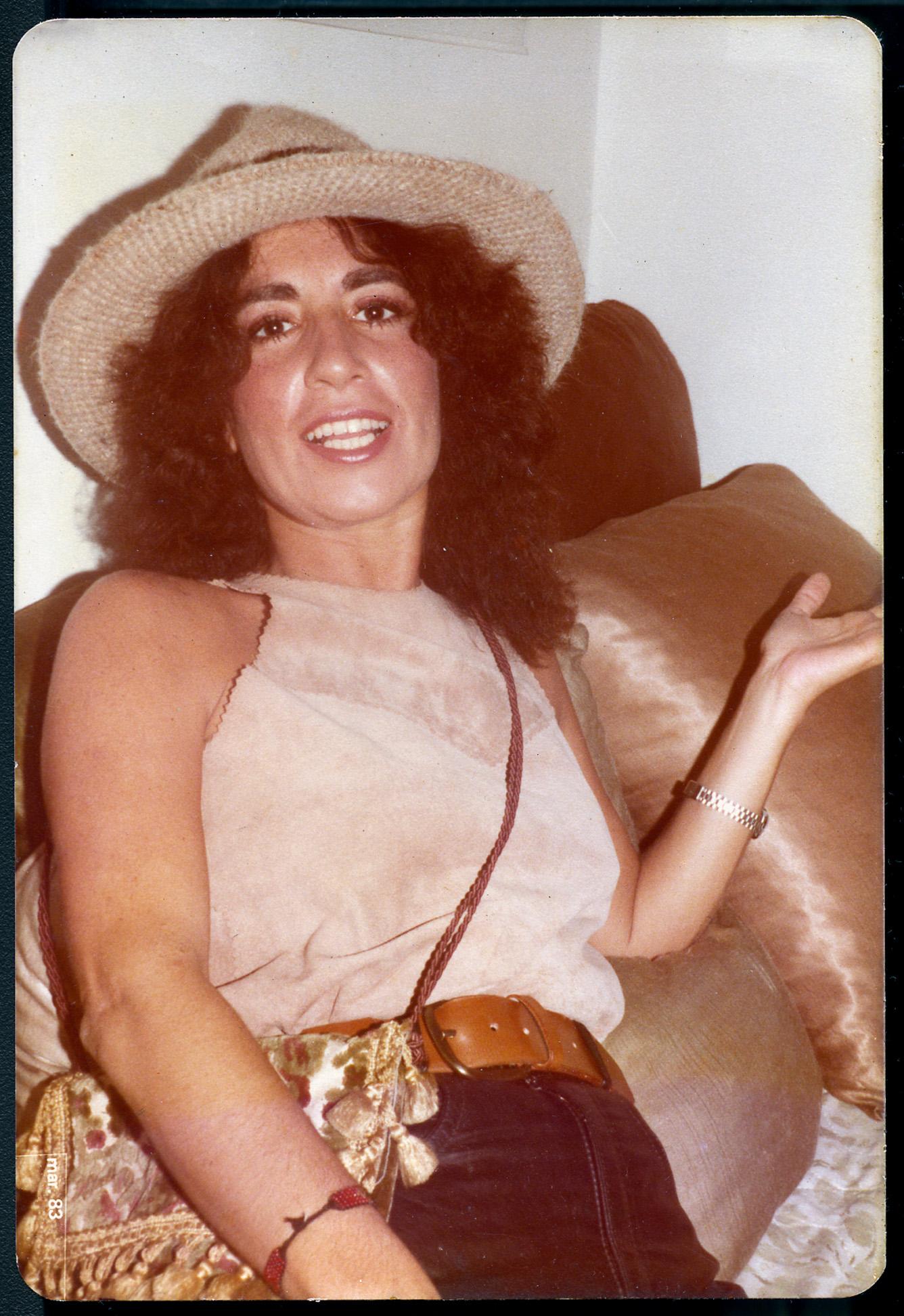 Em sua casa, em 1983