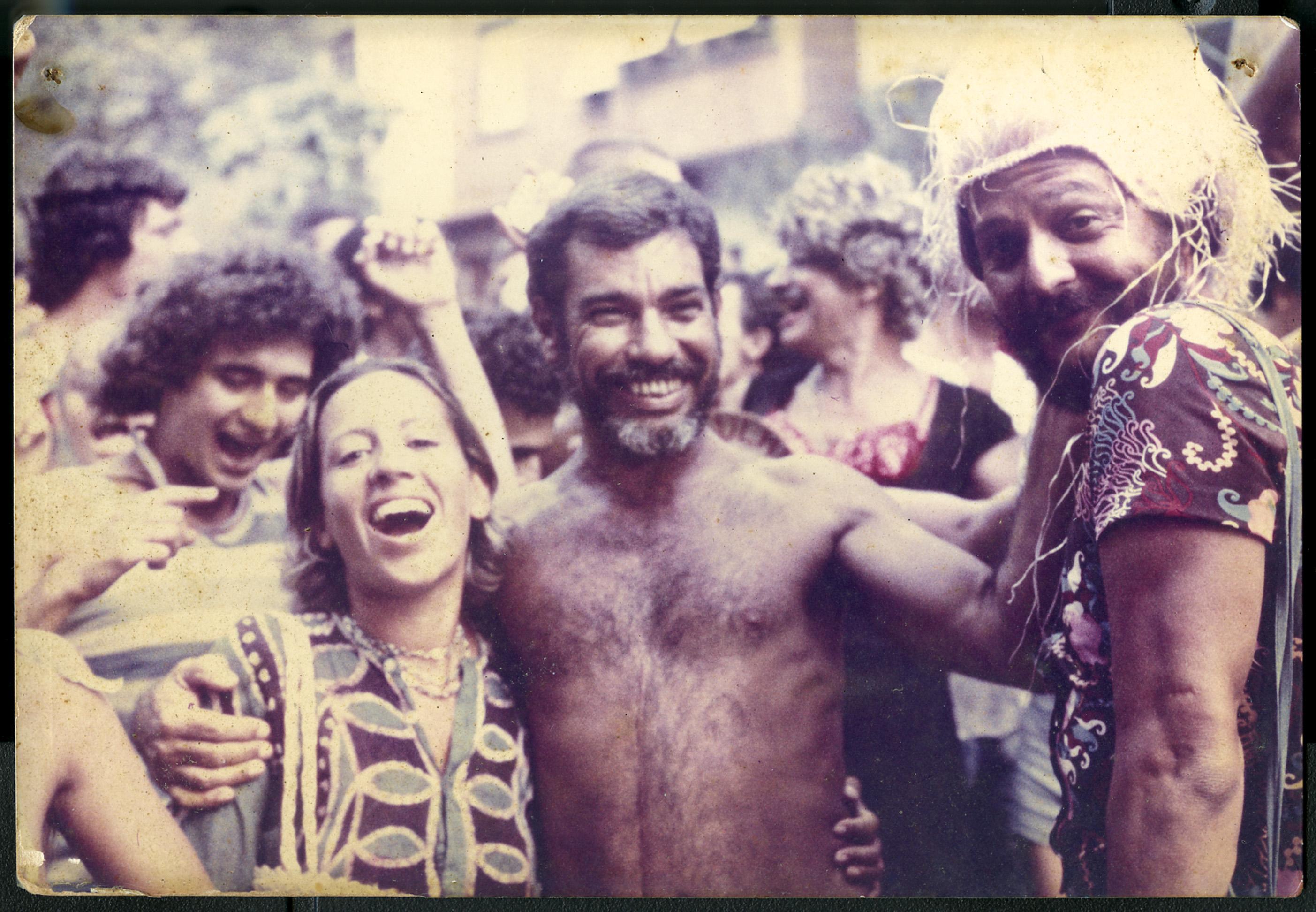 Na Banda de Ipanema, com o amigo Kumbuka, em 1978
