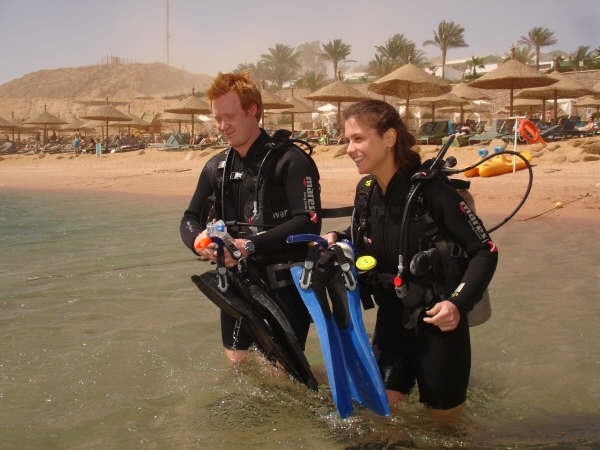 No curso de mergulho de águas profundas