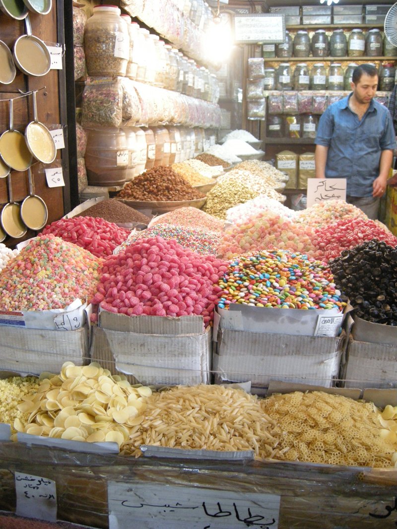 Delícias vendidas nos souqs, mercados árabes
