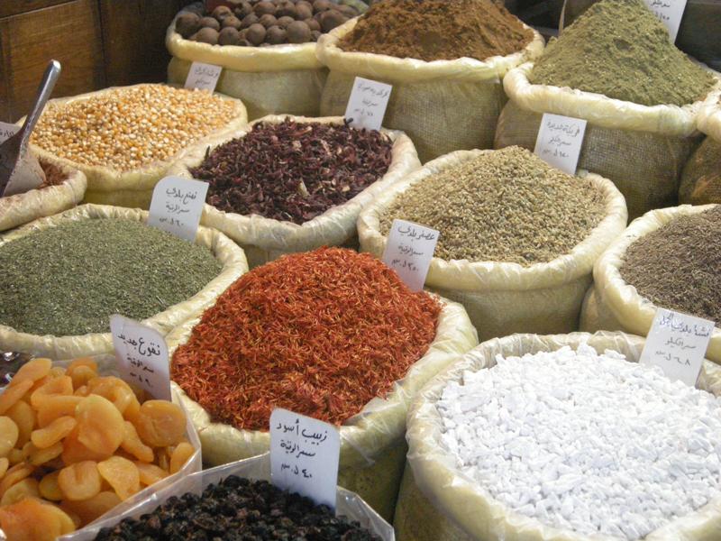 Especiarias dos souqs: variedades de aromas e gostos
