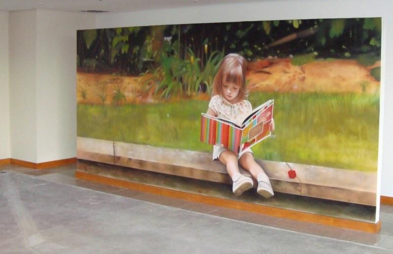 Mural em um escritório - Obra de Eduardo Kobra www.eduardokobra.com