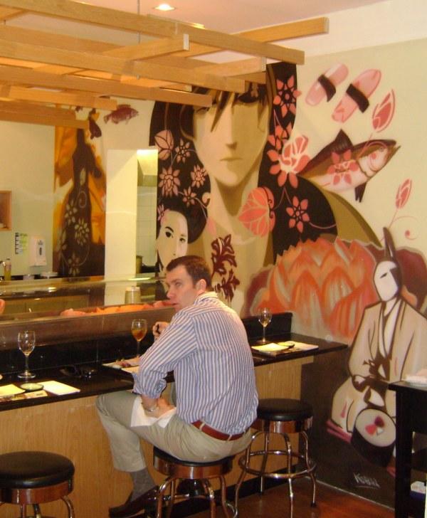 Mural no sushi do Empório Santa Maria - Obra de Eduardo Kobra www.eduardokobra.com
