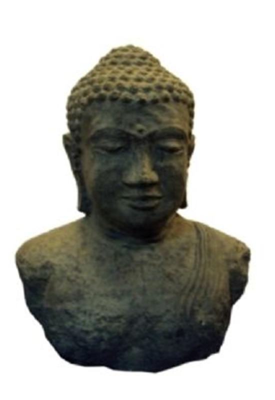 Sugestão de objetos: Busto de Buda em Pedra Green 50cm l Disponível na Arte da Ásia