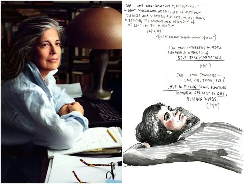 Susan Sontag, escritora americana que sempre assumiu os fios brancos. Eles acabaram se tornando marca pessoal dela