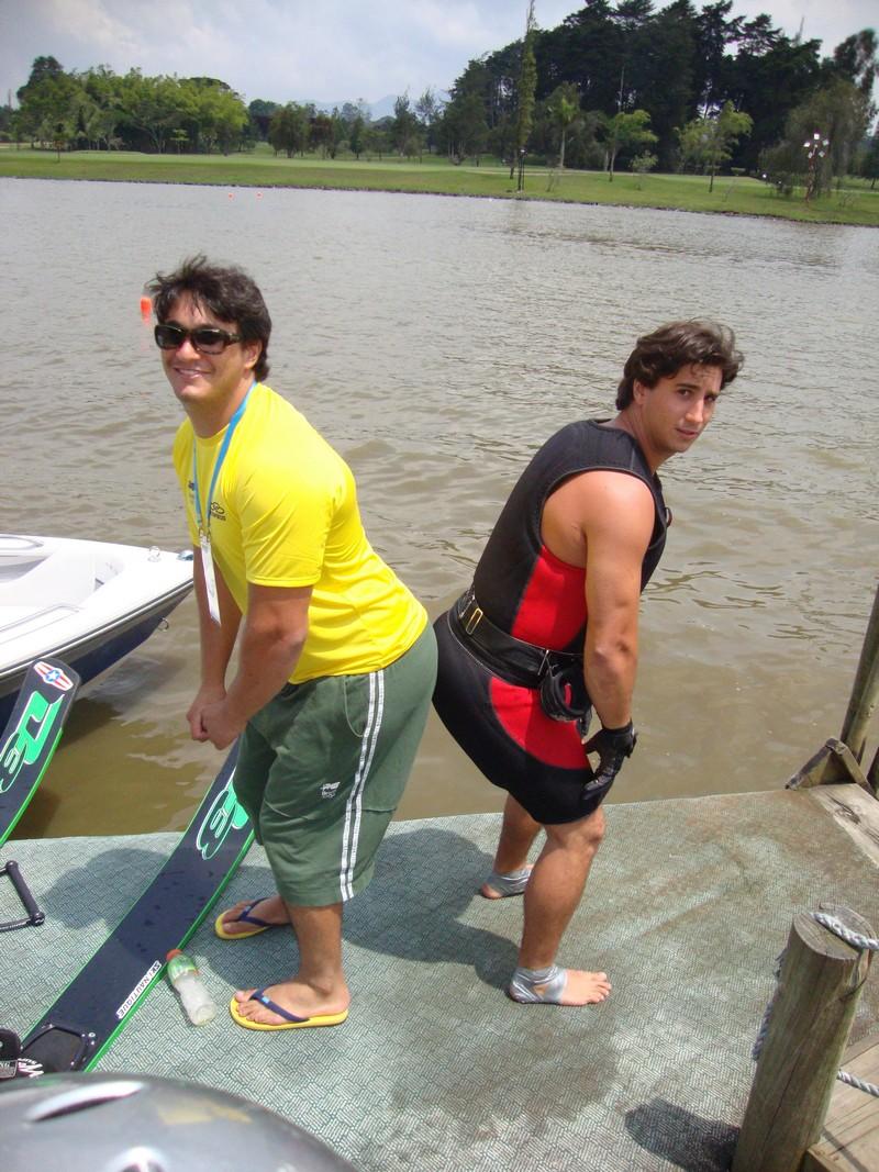Caio e Felipe, representantes do Ski brasileiro