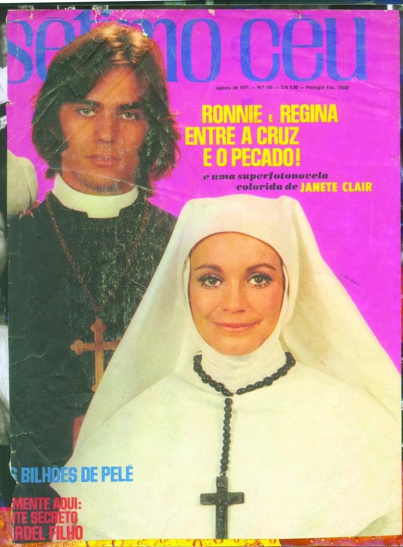 Com Regina Duarte em fotonovela que nunca foi publicada por ter sido censurada