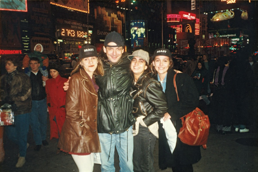 Na época em que morou em Nova York, com Ingrid Guimarães (à esq.) e Carol Machado