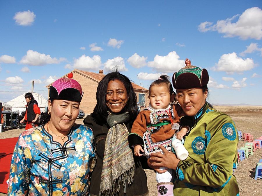 Em viagem à Mongólia, na primeira série de reportagens para o Globo Repórter, que marcou seu retorno à TV, em 2010