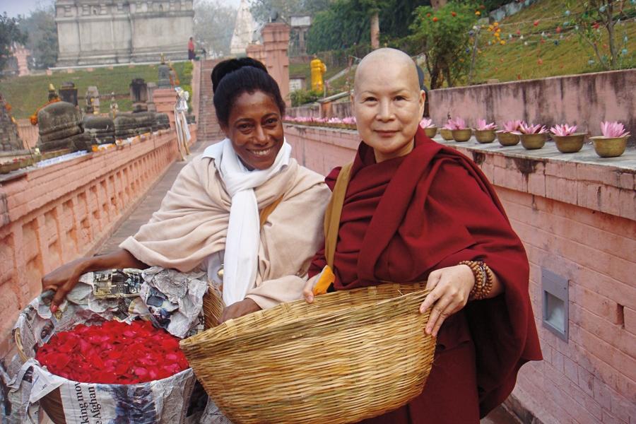 Como voluntária na Índia, em seu primeiro ano sabático