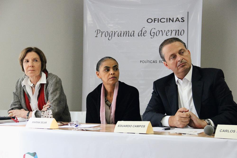 Com Eduardo Campos nas oficinas para a construção do programa de governo do candidato