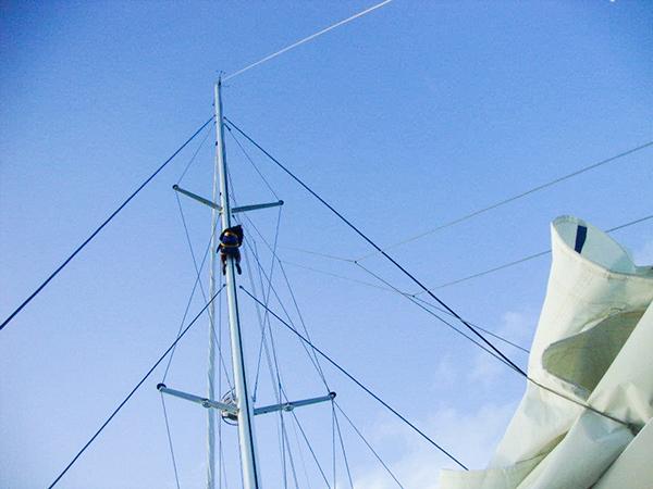 """""""Meu lugar preferido no barco é sempre o topo do mastro"""""""