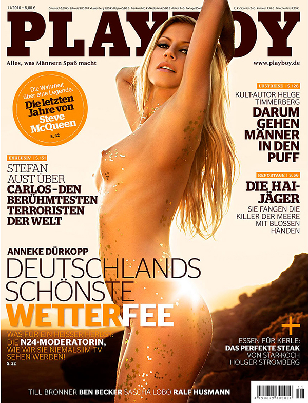 Playboy alemã com a modelo Anneke Durkopp, clicada por Autumn