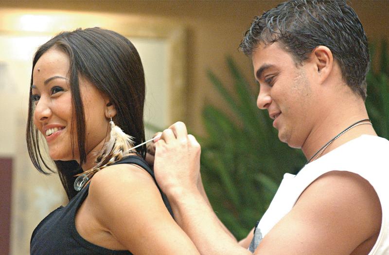 No Big Brother, com Dhomini, em 2003
