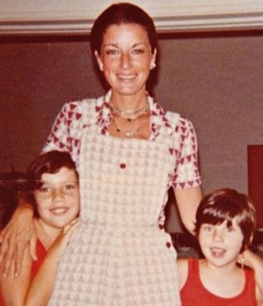Com as filhas, Consuelo e Alessandra